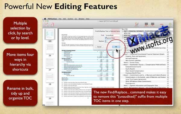 [Mac] PDF文件目录表制作工具 : PDFOutliner