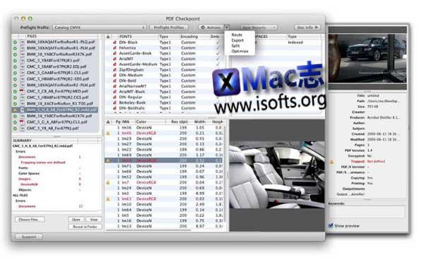 [Mac] 批量PDF文件预处理及转换工具 :  PDF Checkpoint