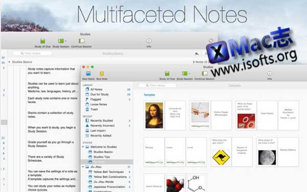 [Mac]抽认卡制作管理工具 : Studies