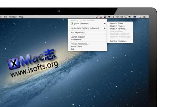 [Mac]菜单栏的Git资源管理工具 : gitbar