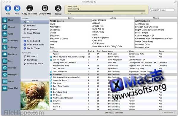 [Mac] iOS设备多媒体管理客户端 : TouchCopy