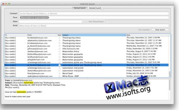 [Mac]增强型邮件搜索工具 : InfoClick