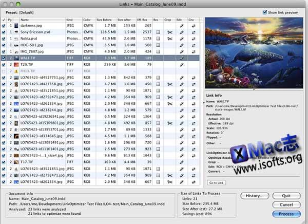 [Mac] InDesign图片体积缩小优化工具 : LinkOptimizer
