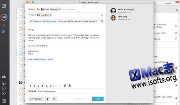 [Mac]桌面邮件客户端 : Hiri