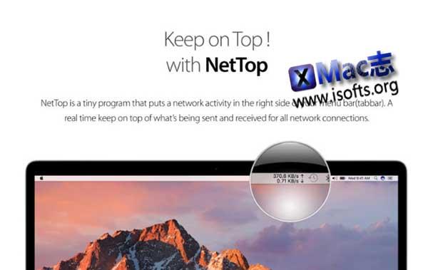 [Mac]菜单栏网络流量查看工具 : NetTop