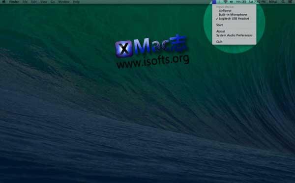 [Mac]麦克风音量监测软件 : Microphone Volume Monitor