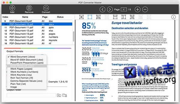 [Mac] PDF文件格式转换工具 : Lighten PDF Converter Master