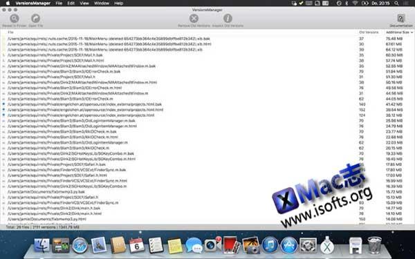 [Mac]旧版本文件自动清理软件 : VersionsManager