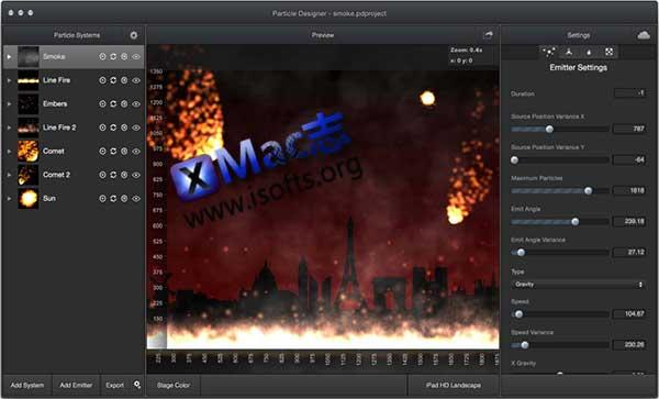 [Mac] Cocos2D游戏开发必备的粒子效果编辑工具 : Particle Designer