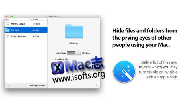 [Mac]文件/文件夹隐藏工具 : Secret Folder