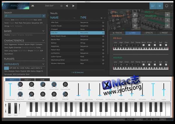 [Mac]模拟合成器 : Arturia Analog Lab
