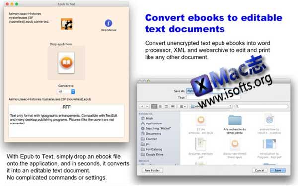 [Mac]将Epub转换为文本文档 : Epub to Text