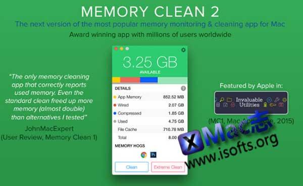 [Mac]内存整理工具 : Memory Clean 2
