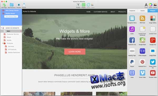[Mac]网站制作网页设计工具 :EverWeb