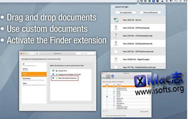 [Mac]快速新建多种类型文件 : New File Creation
