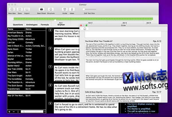 [Mac]剧本创作软件 : Contour