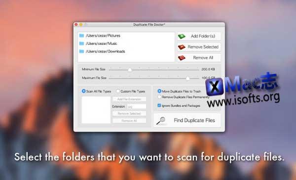 [Mac]重复文件查找/删除工具 : Duplicate File Doctor