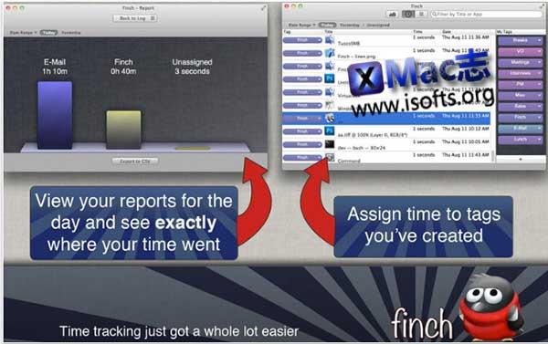 [Mac]应用软件使用时间统计工具 : Finch