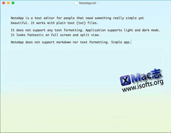 [Mac]纯文本编辑器 : NoteApp