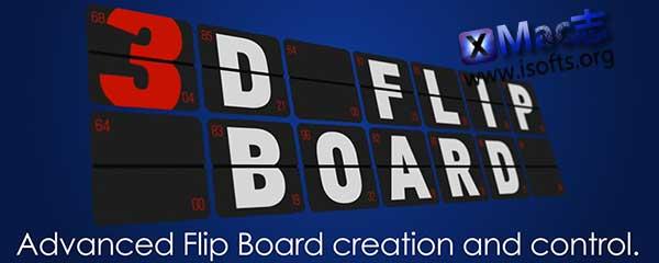 [Mac]字母数字三维翻页动画AE脚本 : AEscripts 3D Flip Board