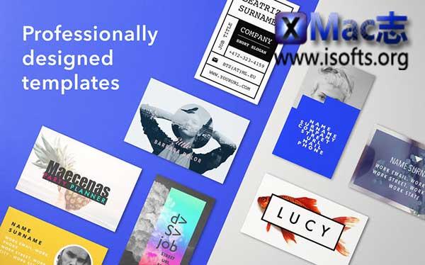 [Mac] Microsoft Word模板套件 : Business Card Studio Templates for MS Word
