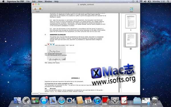 [Mac] PDF文件签名工具 : Signature for PDF