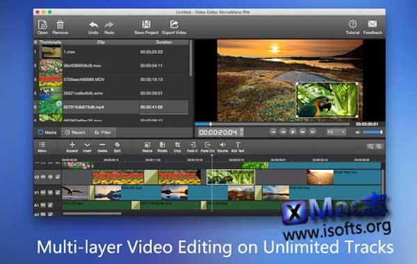 [Mac]视频制作处理工具 : Video Editor MovieMator Pro