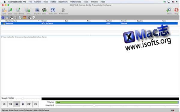 [Mac]数字转录播放录写软件 : NCH Express Scribe Pro