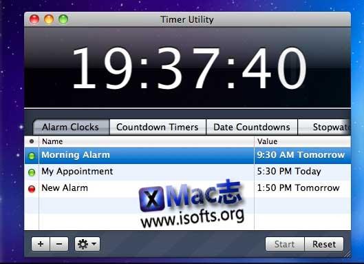 [Mac]计时器闹钟工具 : Timer Utility
