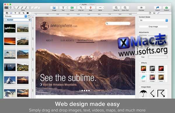[Mac]网页设计制作工具 : TurboWeb