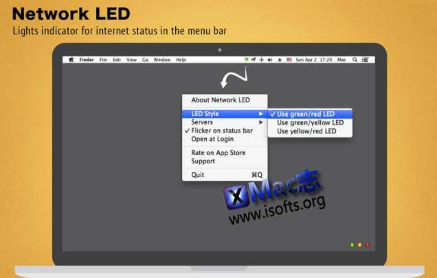 [Mac]当前网络状态监测显示工具 : Network LED