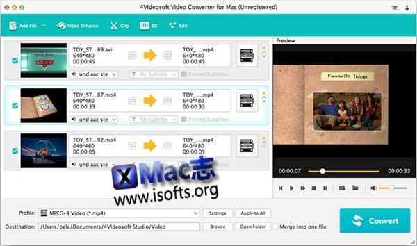 [Mac]专业视频转换软件 : 4Videosoft Video Converter Ultimater