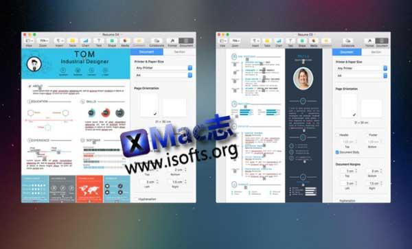 [Mac] Pages的简历模板集合 : Resume Mate