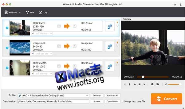 [Mac]方便易用的音频格式文件转换器 : Aiseesoft Audio Converter