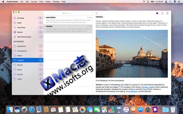 [Mac]简单易用功能强大的笔记软件 : Purple Notes