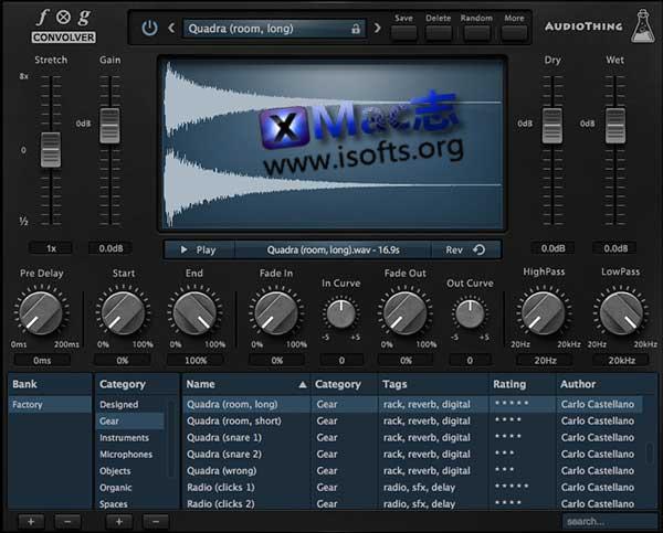 [Mac]卷积混响效果器插件 : AudioThing Fog Convolver