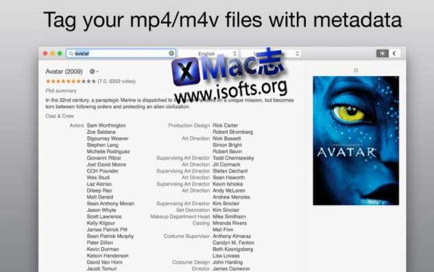 [Mac] mp4/m4v视频元标签tag自动下载匹配工具 : VideoTag