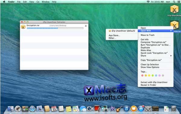 [Mac]免费解压缩工具 : iZip Unarchiver