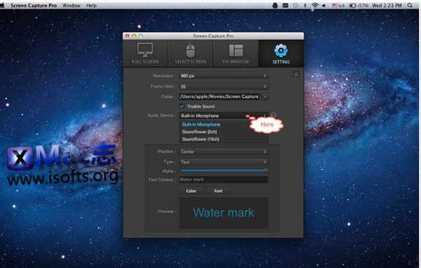 [Mac]屏幕录像软件 : Screen Capture Pro