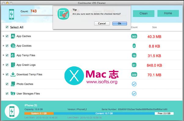 [Mac] iPhone/iPad一键垃圾清理工具 : Coolmuster iOS