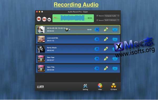 [Mac]专业的录音工具 : Audio Record Pro