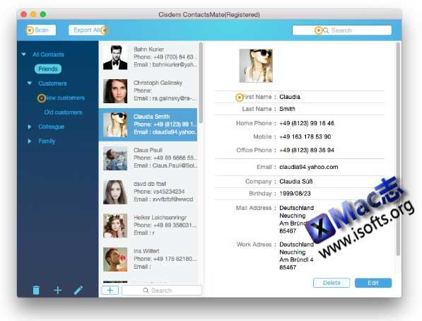 [Mac]联系人管理工具 : Cisdem ContactsMate