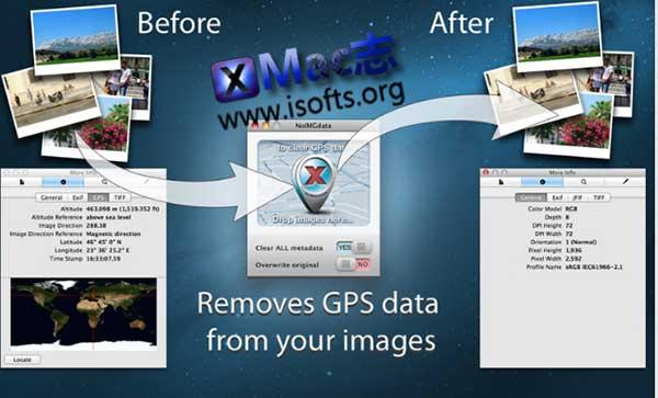 [Mac]照片GPS元标签信息移除工具 : NoIMGdata