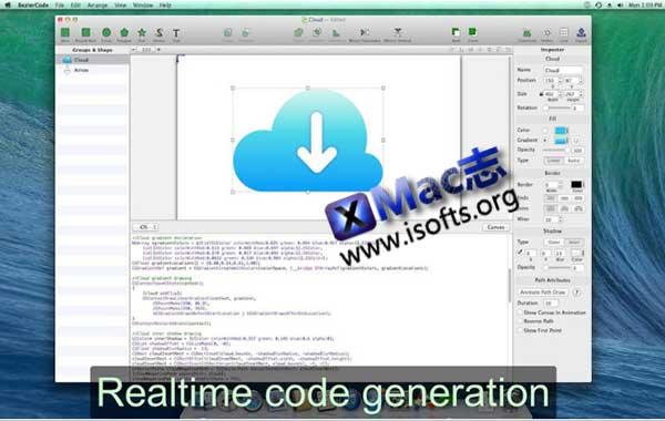 [Mac]矢量绘图软件 : BezierCode