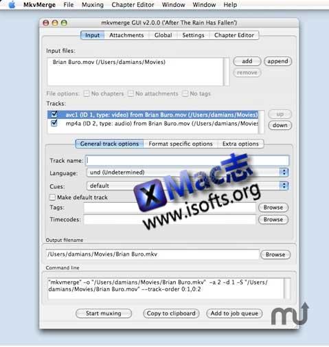 [Mac]功能强大的mkv格式制作和处理的工具 : MKVtoolnix