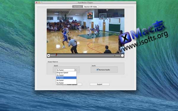 [Mac]快进视频制作工具 : Fast Motion Clipper
