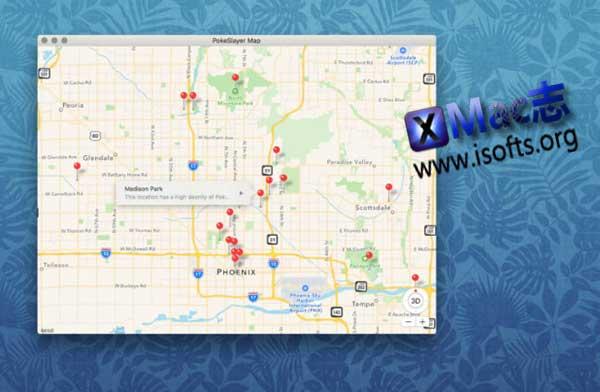 [Mac]口袋妖怪秘密武器精灵分布实时地图软件 : Map for Pokemon Go