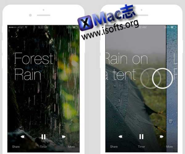 [iPhone]白噪音软件 : Relax Rain