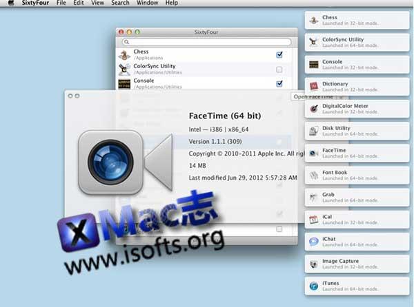 [Mac]让64位的应用在32位模式下打开 : SixtyFour