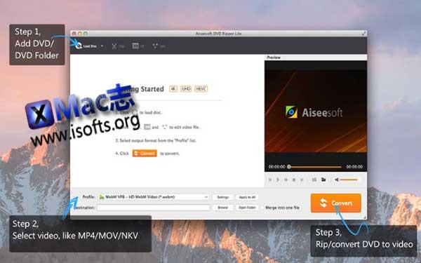 [Mac] DVD备份及转换软件 : Aiseesoft DVD Ripper Lite